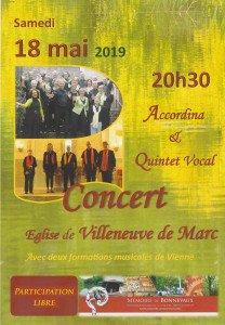 Affiche concert 18 mai